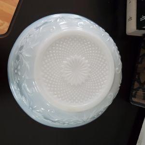 Vintage Dining - Vintage FTD 1979 Milk Glass Farmhouse Serving Bowl